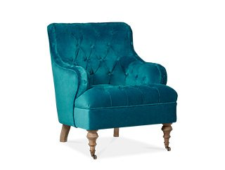 Wonderful Swoon Editions   Chester Armchair In Dark Teal Velvet, Armchair, Modern  Country Style