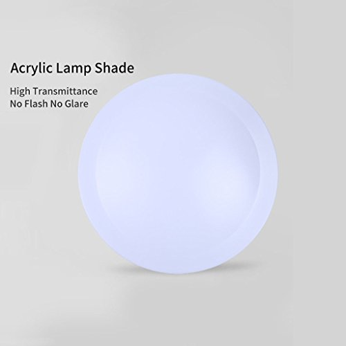 Round LED Recessed Ceiling Panel Down Light Flush Mount Slim Lights Fixture Bedroom Kitchen Lamp US Dimmable Bulbs 24 W - Kichler Santa