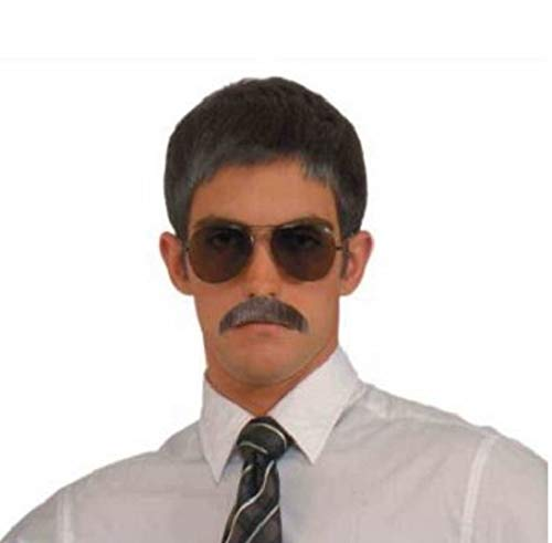 Forum Novelties Men's Novelty Gentleman's Mustache, Brown, One Size