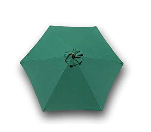 Formosa Covers 9ft Umbrella Replacement Canopy 6 Ribs in Green (Canopy Only)