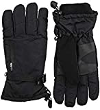ISOTONER Men's Ski Gloves, Waterproof ,Windproof and Insulated for Cold Weather (Medium / Large, Black)