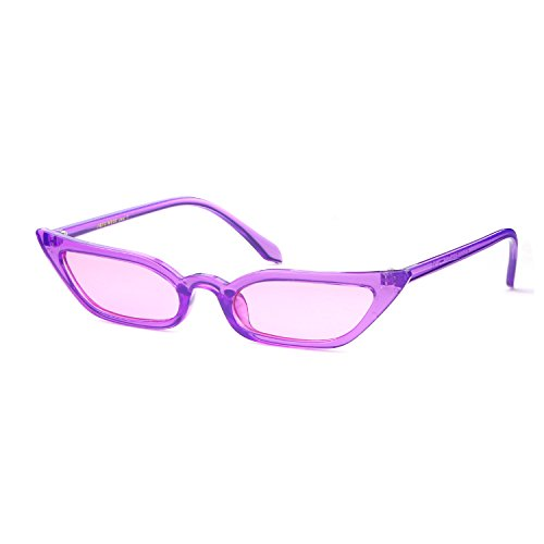 Cat Eye Sunglasses Vintage Retro Candy Colorful Lens Glasses For Women - The Girls Glasses With Show