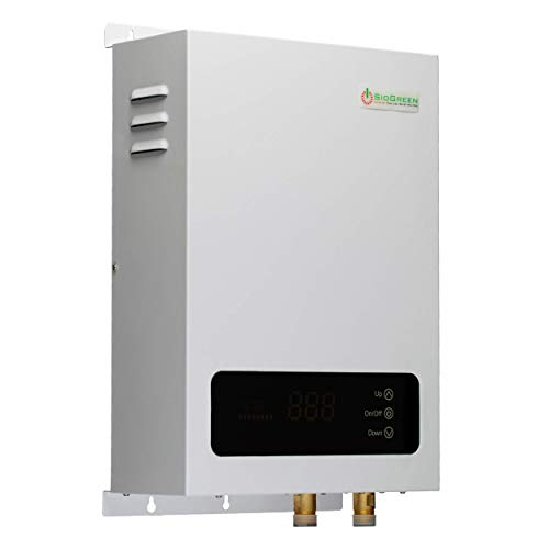 Sio Green SIO14 v2 Infrared Electric Tankless Water Heater - Instant Hot Water Heater - Corrosion Free Elements - Free Maintenance - 220v - 240v / 60A / 14W
