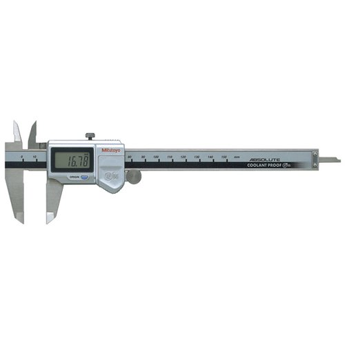 Mitutoyo 500-753-10 Digital Calipers, Battery Powered, Inch/Metric, for Inside, Outside, Depth and Step Measurements, Stainless Steel, 0