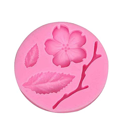 Gessppo Cake Mold-Peach Blossom Branch Silicone Fondant Mold