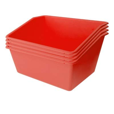 4ct Plastic Book Box Red - Bullseye's Playground153; Red