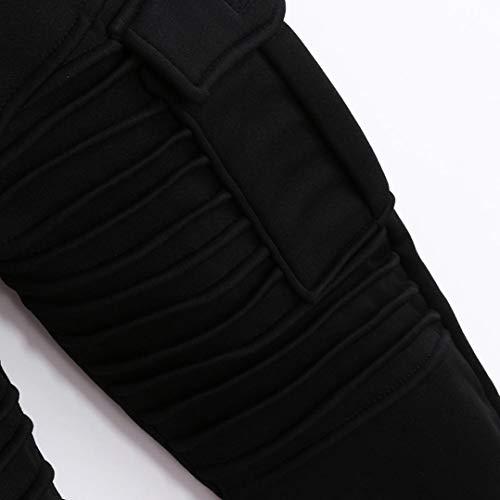 Casual Del Hombres Negro Zodof Pantalones Ocasionales Rayas De Moda Deporte Los Chándal Retro Holgados Zxgqpw