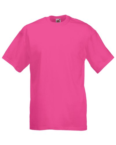 Fruit of The Loom Value-T-Shirt in peso rosa fucsia M