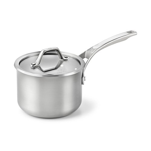 Calphalon 1833938 AccuCore Stainless Steel Sauce Pan with Cover, 2-Quart