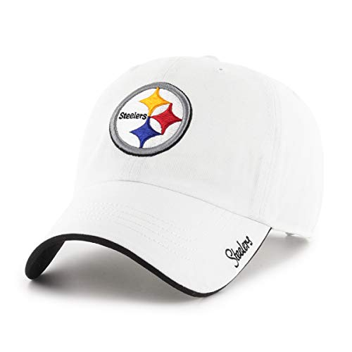 Pittsburgh Womens Accessories Steelers - OTS NFL Pittsburgh Steelers Female Accolade Challenger Adjustable Hat, White, Women's