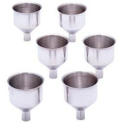 BF Systems KTFLFNL6 Maxam 6 Piece Stainless Steel Flask Funnel Set, Large