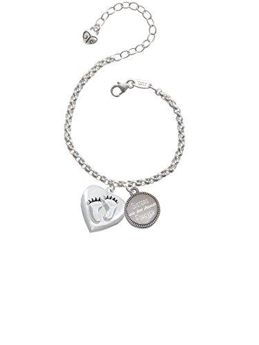 Baby Feet Heart Locket Sisters Are Best Friends Forever Engraved Bracelet
