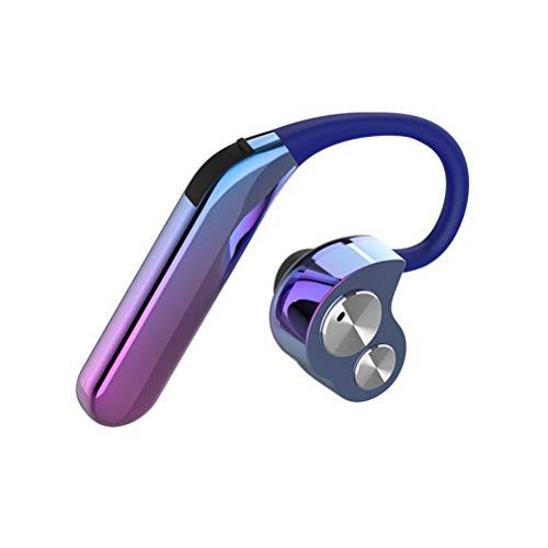 Healifty Wireless Bluetooth X6 V5.0 Headphones In-Ear Headphones Wireless Bluetooth Hanging Ear Sport Earphones (Aurora Color Single Earphone):