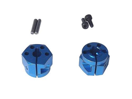 buena reputación Aluminum clamp hex wheel hub (for Tamiya TT-01 02) 02) 02) 10mm width azul  bienvenido a orden