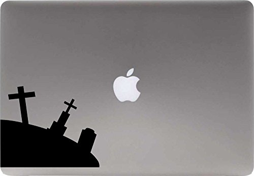 [Graveyard Left Version 1 Vinyl Decal Sticker for Computer Macbook Laptop Ipad Electronics Home Window Custom Walls Cars Trucks Motorcycle Automobile and More] (Cute Halloween Ghosts Clipart)