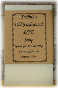 Debbie's Old Fashioned Lye Handmade Soap (4 bars)
