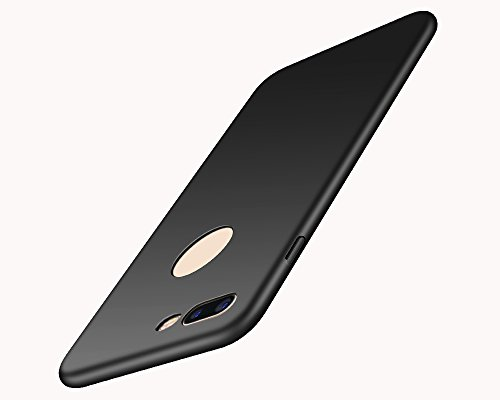 EIISSION iPhone 8 Plus Custodia,Ultra sottile che cade superficie protettiva opaca Custodia / case / cover per iPhone 8 Plus smartphone ,Nero