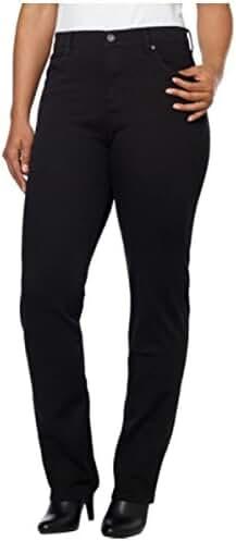 Gloria Vanderbilt Women's Amanda Heritage Fit, Tapered Leg, Classic Rise Jeans (6 Average, Black)