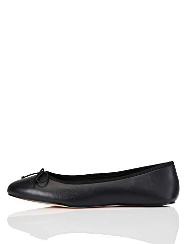 Amazon Brand - find. Women's Leather Ballet Flat
