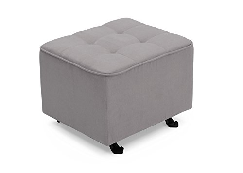 Delta Children Nursery Tufted Gliding Ottoman, Dove - Nursery Upholstered Ottoman