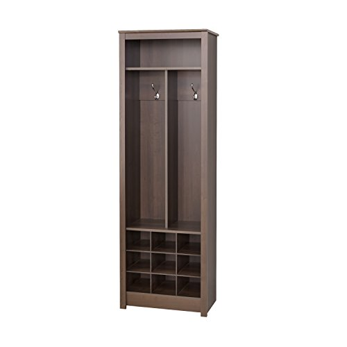 - Prepac ESOH-0010-1 Space Saving Entryway Organizer with Shoe Storage, Espresso, 13Lx23.5Wx72.5H,