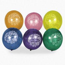 Hibiscus Print Balloons (4 dz) by Fun (Latex Aloha)