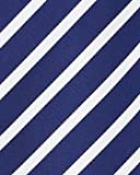 BAXBO Men's Microfiber Blow Up Novelty Pillow Tie (Hidden Inflatable Tube) Striped Navy White