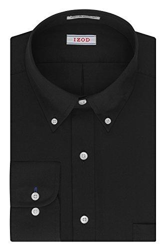 IZOD Men's Twill Regular Fit Solid Button Down Collar Dress