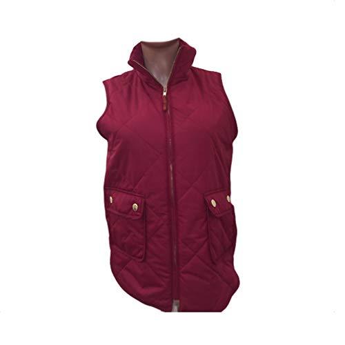 Warm Coats Women Slim Wine Vest Vest Waistcoat New Fashion Red Cheyuan Jacket Women Slim Sleeveless Winter Women qtSwOnT