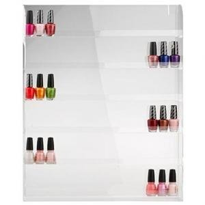 Arylic Nail Polish Bottle Organizer Wall Display Rack (Holds 72 Bottles) Perfect for Home Office Salon Spa Personal Professional Use, great gift idea