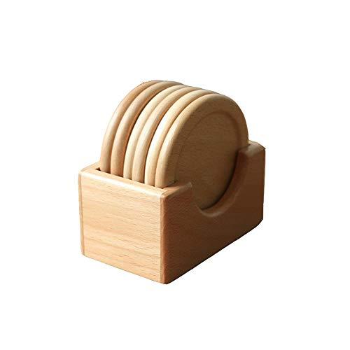 Black Walnut Coaster Set Wooden Insulation Pad Creative Solid Wood Place Mat 6 Piece Elm Anti Slip Mat