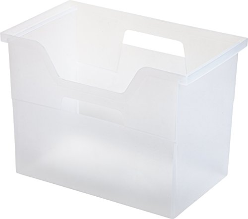 IRIS Desktop File Box, 4 Pack, Large, Clear by IRIS USA, Inc.
