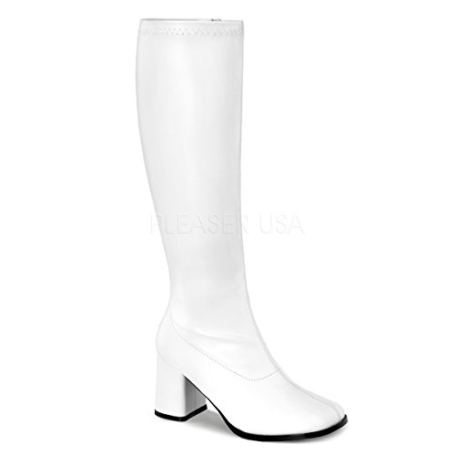 Funtasma by Pleaser Women's Gogo-300W,White Patent,8 M -
