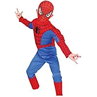 TONY STARK Kid's Polyester Spiderman Costume Halloween Cosplay Large (Violet and Red)