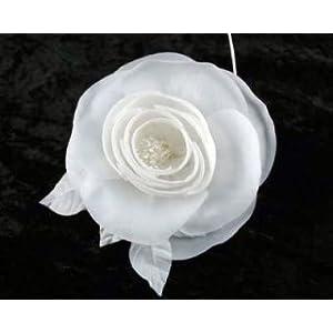Silk Camellia By Shine Trim - White 60