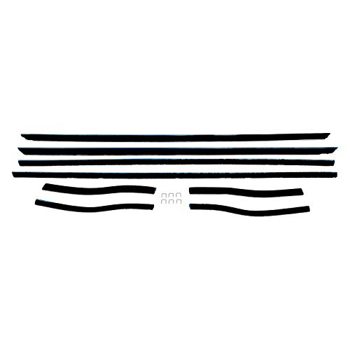 - 1967-1968 Mustang Window Felt Weatherstrip Kit Coupe, 8 Pieces NEW