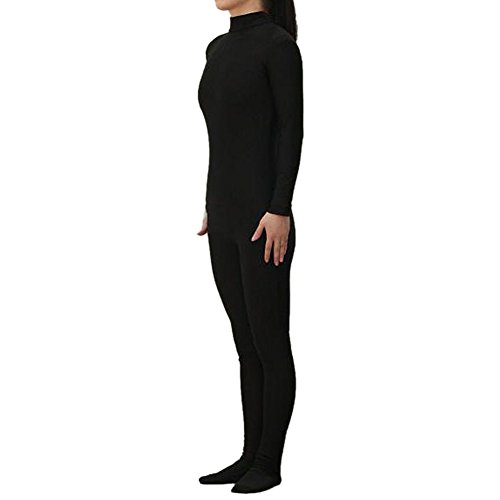 [Muka Adult Lycra Zentai Unitard Bodysuit Halloween Catsuit Dancewear - Black,XL] (Morph Suit Costumes Ideas)