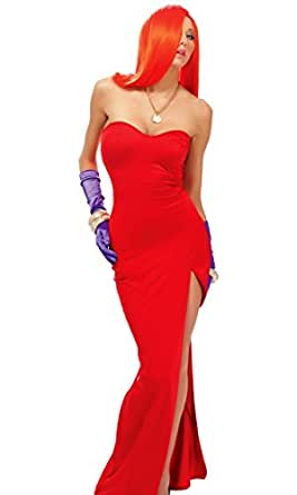 Forplay Women's Mrs. Rabbit To You Costume Set, Red, X-Small/Small