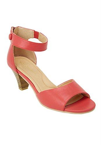 Comfortview Women's Wide Fallon Sandal (Dusty Coral,8 1/2 W)