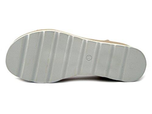 Sandalo Tmd45040 Fiori 7cm Osvaldo Ecopelle In Pericoli Di Zeppa Cipria Laminato Mercante 4AxBIqp