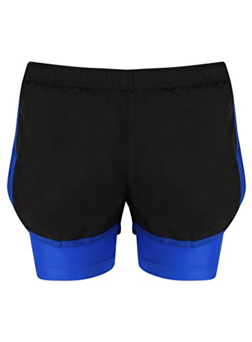 Noir Course Gymnase Short La De nbsp;pour Ir 1 nbsp;en Respirant Matériel Femme 2 Pour Au Sports bleu Etc qw01a