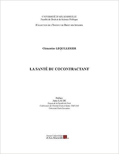 Livres gratuits La santé du cocontractant epub pdf