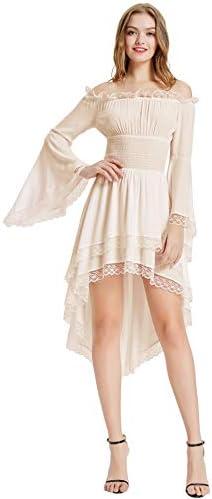 KANCY KOLE Vestido de Renacimiento para Mujer, Disfraz Medieval ...