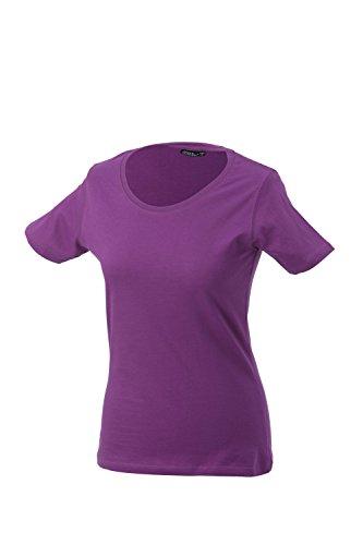 James & Nicholson - Ladies Basic T- Shirt / purple, S