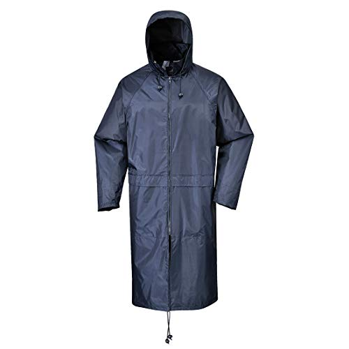 Portwest S438NARXXL Classic Rain Coat, Fabric, Xx-Large, Navy