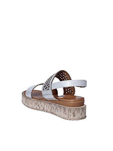 Donna Melluso K55025 Zeppa Grigio Sandalo X77Utp