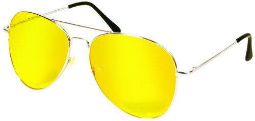 Night View NV Glasses by Natures Pillows: Virtually Indestructible, Perfect for Any Weather, Yellow Glasses Block Nighttime Glare, Reduces Eye - Driving Yellow Glasses