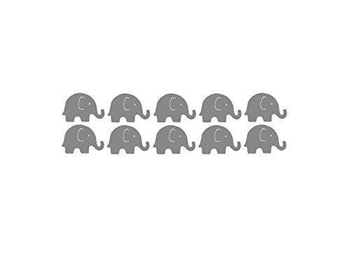 2 inch Vinyl Elephants, Nursery Decor, Elephant Baby Room, Elephant Baby Shower Decorations,Shower Ideas, Gender Neutral Baby Shower, Yellow Gray Baby Shower Decor
