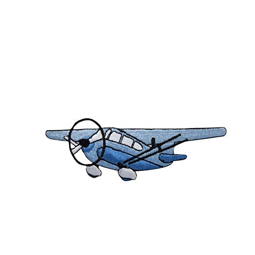 Wholesale Applique Blue Cessna Style Airplane Iron on Embroidered Patch