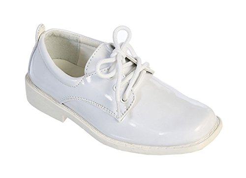 TipTop Patent Dress Oxford Shoes White 5 M US Big Kid